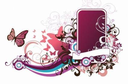 Vector Abstract Floral Frame