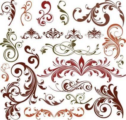 free vector Floral Design Elements Vector Set