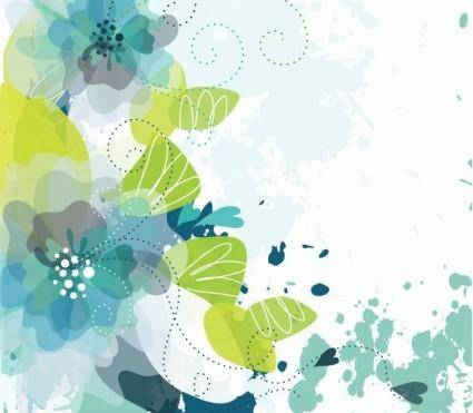 free vector Floral Background Vector Illustration