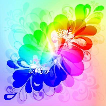 Colorful Floral Background Vector Graphic