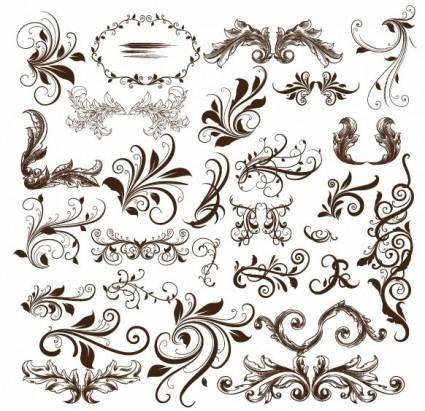 free vector Swirl Floral Element Vector Illustration