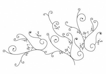 Floral Swirl Ornament Vector