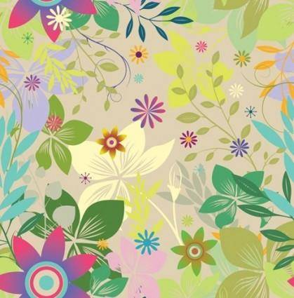 free vector Seamless Floral Vector
