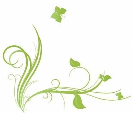 Floral with Butterfly Element Design Vector Illustration