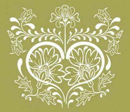 Vintage Floral Design Vector Graphic