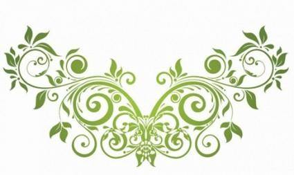 Vector Swirl Floral Design Element