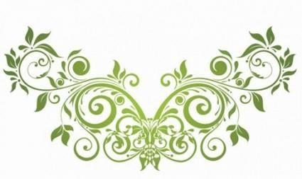Vector Swirl Floral Design Element