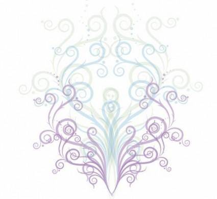 free vector Swirl Floral Ornament Vector Graphic