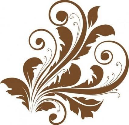 free vector Vector Decorative Floral Design