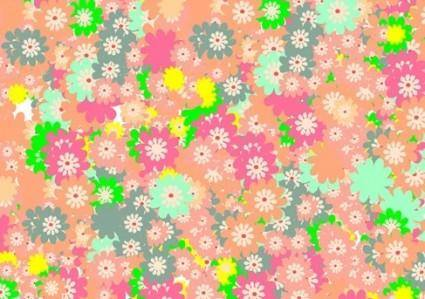 free vector Floral Colorful Background Vector