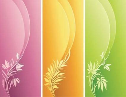 free vector Fashion Floral with Curve Background