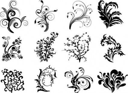 Free Vector Floral Curves
