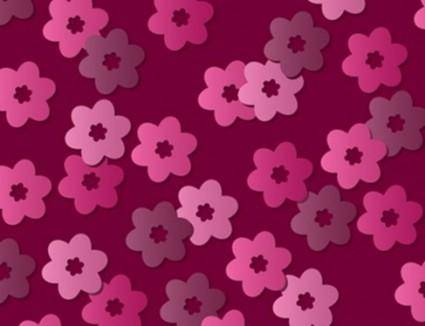 free vector Pink Retro Floral Vector Pattern