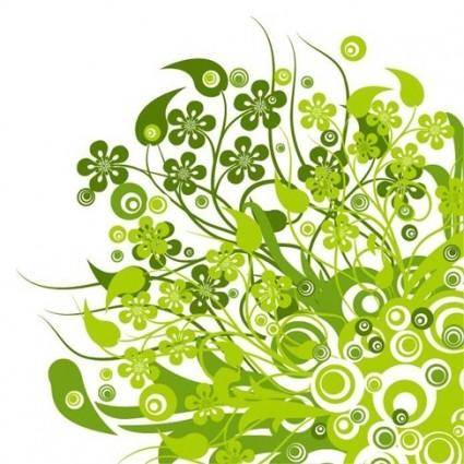 free vector Green Floral Vector Graphic
