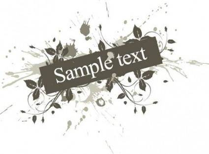 Free Vector Floral with Grunge Background Graphic