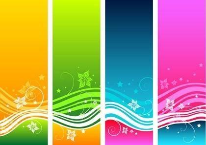 Free Floral Swirls Vector Background