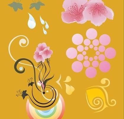 free vector Free Vector Floral Elements