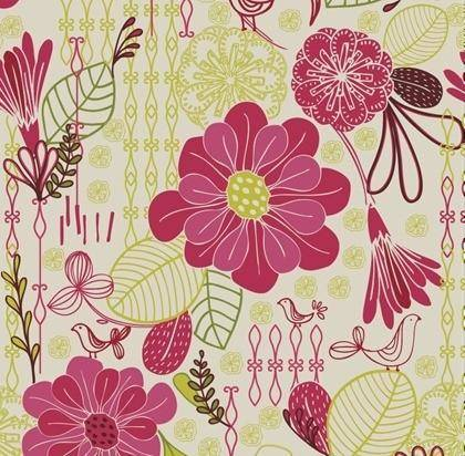 free vector Free Retro Floral Pattern Seamless Background Vector