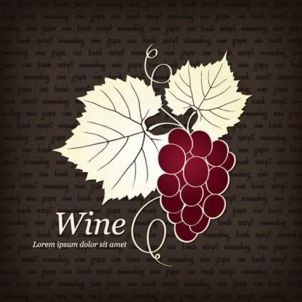 Red wine illustrator vector