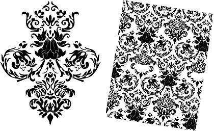 free vector Free Baroque Floral Vector Pattern
