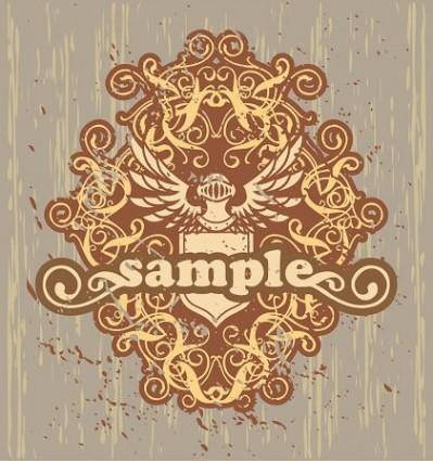 Trend Element Retro Floral Pattern Vector