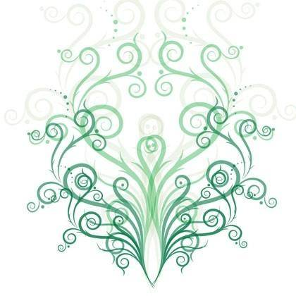 free vector Green Fashion Floral Vector