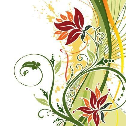 free vector Fashion Floral Background Vector