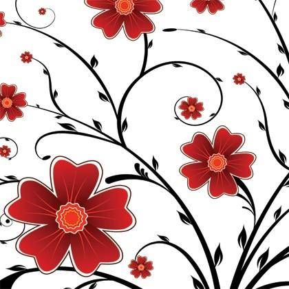 free vector Red Flower Floral Background Vector Graphics
