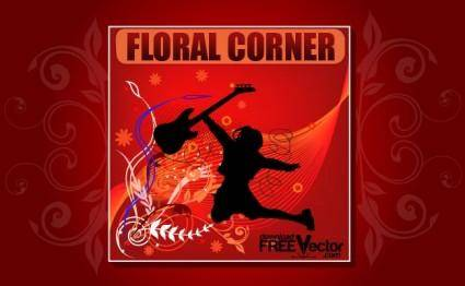 free vector Vector Floral Corner