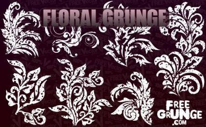 free vector Vector Floral Grunge