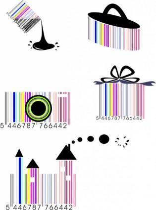 free vector The barcode also crazy vector