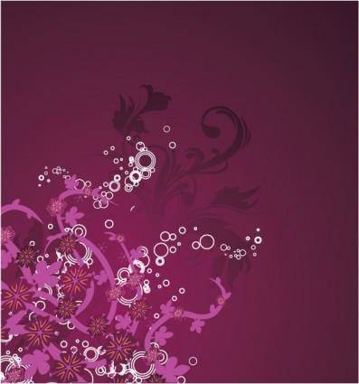 free vector Beautiful purple floral background
