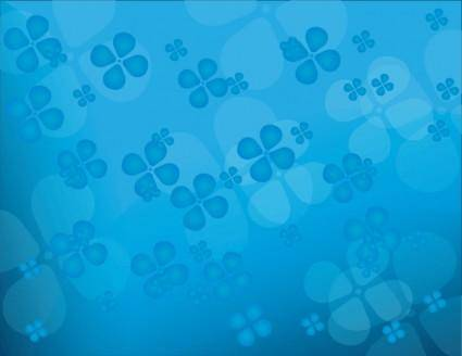 free vector Floral blue vector background