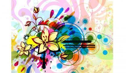 free vector Free abstract floral illustration