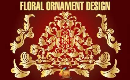 free vector Floral Ornament Design