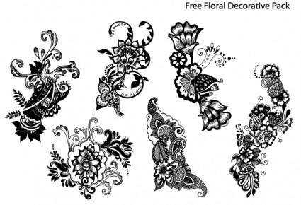 free vector Free Floral Decorative Pack