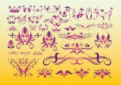 free vector Floral Tattoo Art