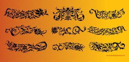 free vector Floral Scrolls