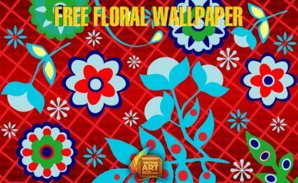 free vector Free Floral Wallpaper