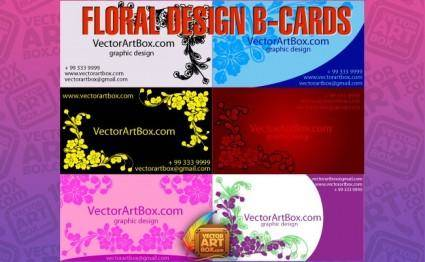 free vector Floral Design B-cards