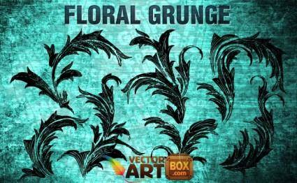 free vector Floral Grunge