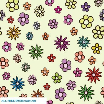 free vector Free vector floral colorful pattern