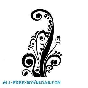free vector Elegant floral vector