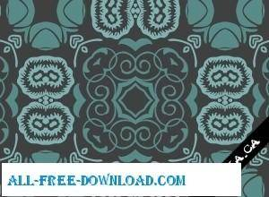 free vector Bluish floral wallpaper