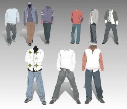 free vector Vector cowboy costumes