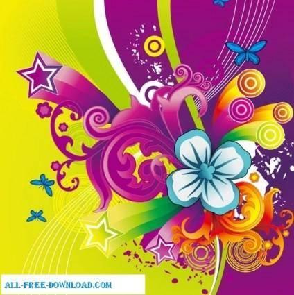 free vector Floral design