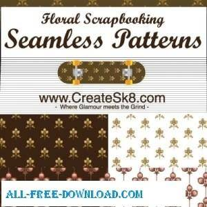 Floral Scrapbooking Seamless Patterns