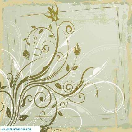 free vector Grungy floral