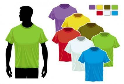 free vector Tshirt template 02 vector