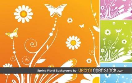 free vector Spring Floral Background